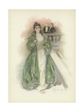 Society Lady at the Savoy Hotel, London Giclee Print by Dudley Hardy