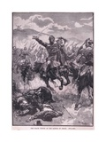 The Black Prince at the Battle of Crecy Ad 1346 Giclee Print by Walter Paget