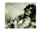 Portrait of Woman Giclee Print by Luigi Conconi