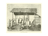 A Dyak Forge, Borneo Giclee Print