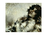 Portrait of a Woman Giclee Print by Luigi Conconi