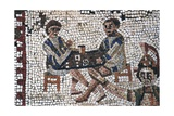 Dice Players, Detail of Mosaic Wydruk giclee