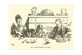 Mr Burwin-Fosselton at Supper Giclee Print by Weedon Grossmith