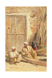 Sellers of Sugar Cane, Egypt, 1892 Giclee Print by David Bates