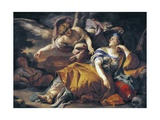Hagar and the Angel Giclée-tryk af Francesco Solimena