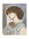 Portrait of Jane Morris, 1868-74 Giclee Print by Dante Gabriel Rossetti
