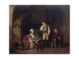 Family Scene Giclee Print by Louis Leopold Boilly