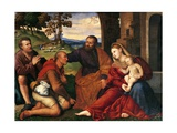 Adoration of Shepherds Giclee Print by Bernardino Licinio