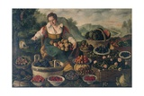 Greengrocer Giclee Print by Vincenzo Campi
