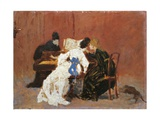 At Pianoforte Giclee Print by Federico Zandomeneghi