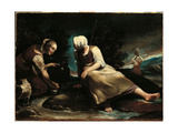 Scene with Shepherdesses Giclee Print by Giuseppe Maria Crespi