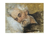 Giuseppe Mazzini Dying Giclee Print by Silvestro Lega