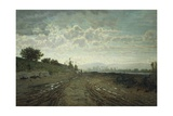 Morning on Arno, 1870-1872 Giclee Print by Telemaco Signorini