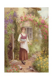 At the Cottage Door Giclee Print by William Affleck