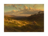 The Closing Day, Scene in Sussex, 1872 Giclee Print by George Vicat Cole