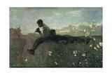 Idyll, 1882-1883 Giclee Print by Giovanni Segantini