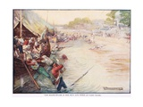 The Boats Stuck in the Mud and Were an Easy Mark Giclee Print by Joseph Ratcliffe Skelton