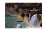Castle by the Lake Giclee Print by Ambrogio Lorenzetti