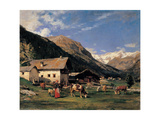 Gressoney, 1875-1895 Giclee Print by Demetrio Cosola