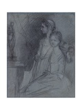 Study of the Artist's Daughters, C.1763 Giclee Print by Thomas Gainsborough