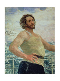 Portrait of Author Leonid Andreev Giclee Print by Ilya Efimovich Repin