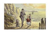On the Sea Shore Giclee Print by Alexander Francis Lydon