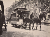 The Horse-Car, Early 1900S Photographic Print