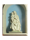 Madonna Enthroned with the Child Blessing Giclee Print by Andrea Della Robbia