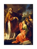 San Marino Raises the Republic Giclee Print by Pompeo Batoni