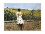In Settignano Hills Giclee Print by Telemaco Signorini