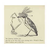 The Judicious Jubilant Jay Giclee Print by Edward Lear