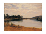 The Po River Near Chivasso, 1880 - 1890 Giclee Print by Demetrio Cosola