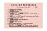 Le Monde Des Echecs, from 'L'Échiquier', 1933 Giclee Print