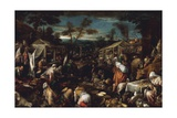 The Big Market Giclee Print by Jacopo Bassano