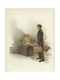 Luggage Boy at Claridge's Hotel, London Giclee Print by Dudley Hardy