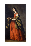 Saint Dorothea Giclee Print by Francisco de Zurbaran