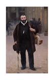 Portrait of Pierre-Emmanuel Damoye Giclee Print by Alfred Roll
