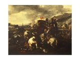 Battle Giclée-tryk af Salvator Rosa