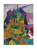 Church in Alupka, 1916 Giclee Print by Aristarkh Vasilievic Lentulov