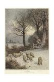 Winter Giclee Print by Myles Birket Foster