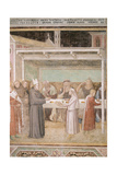 Saint Ludovic of Toulouse Serves Soup Kitchen Giclee Print by Taddeo Gaddi