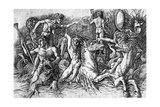 The Battle of Sea Gods Giclee Print by Andrea Mantegna