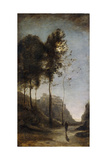 Moonlight on the Edge of the Gulf, C.1855-60 Giclee Print by Jean-Baptiste-Camille Corot