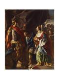 Histories of Alexander Giclee Print by Francesco de Mura