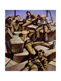 Dog Tired, C.1916 Giclee Print by Christopher Richard Wynne Nevinson