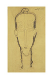 Head of a Caryatid in a Head Dress, 1911 Giclee Print by Amedeo Modigliani