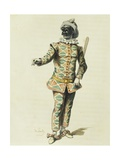 Harlequin in 1671 Giclee Print by Maurice Sand