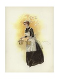 Hotel Maid, Carrying Two Water Cans Giclee Print by Dudley Hardy