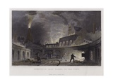Lymington Iron Works, on the Tyne Giclee Print by Thomas Allom