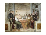 Game of Cards Giclee Print by Giovanni Antonio Fasolo